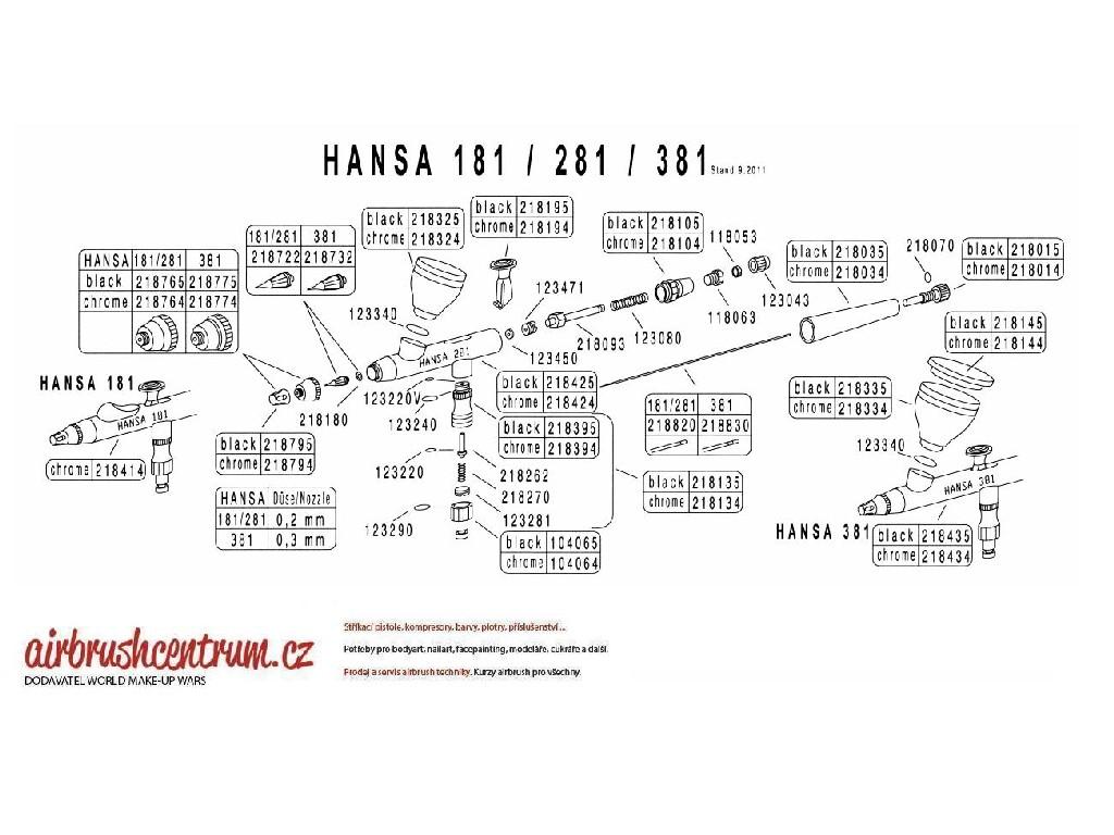 Hansa - kalíšek na barvu 5 ml černý chrom 218335