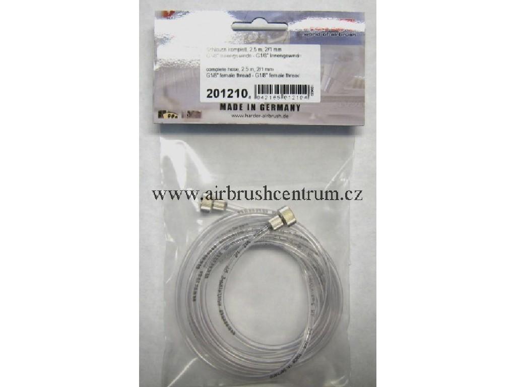 Hadice na airbush, 2.5m G1/8-G1/8 201210