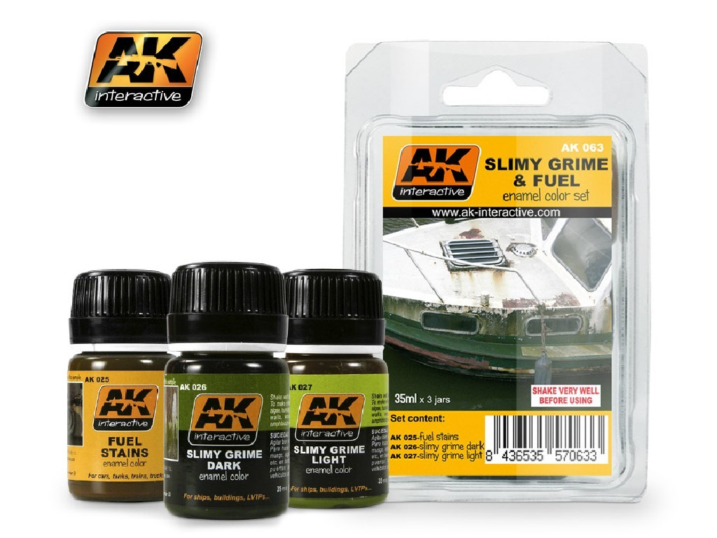 AK Interactive - Slimy Grime and Fuel Set