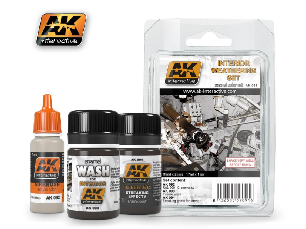 AK Interactive - Interior Weathering Set