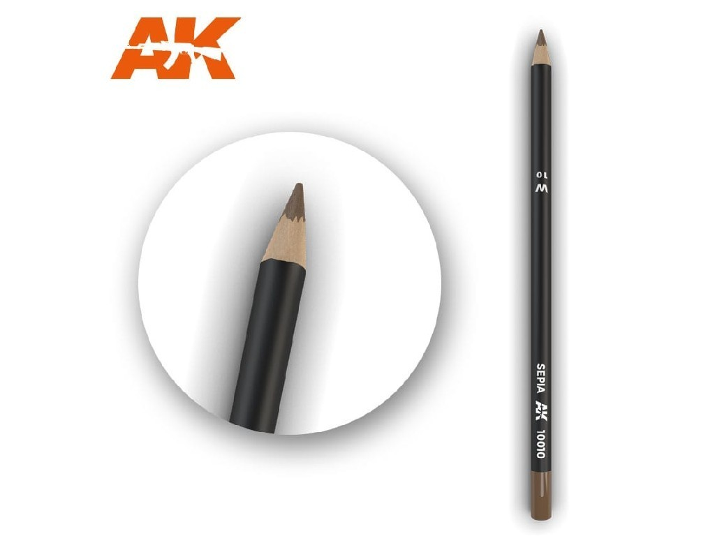 AK Interactive - AK10010 - Akvarelová tužka na odřeniny - Sepia