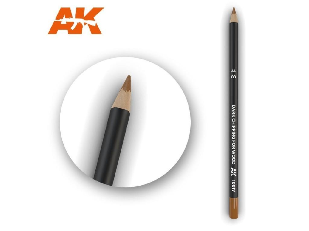 AK Interactive - AK10017 - Akvarelová tužka na odřeniny - Dark Chipping for wood