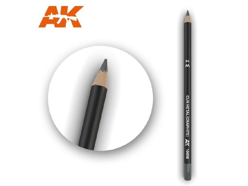 AK Interactive - AK10018 - Akvarelová tužka na odřeniny - Gun Metal (Graphite)