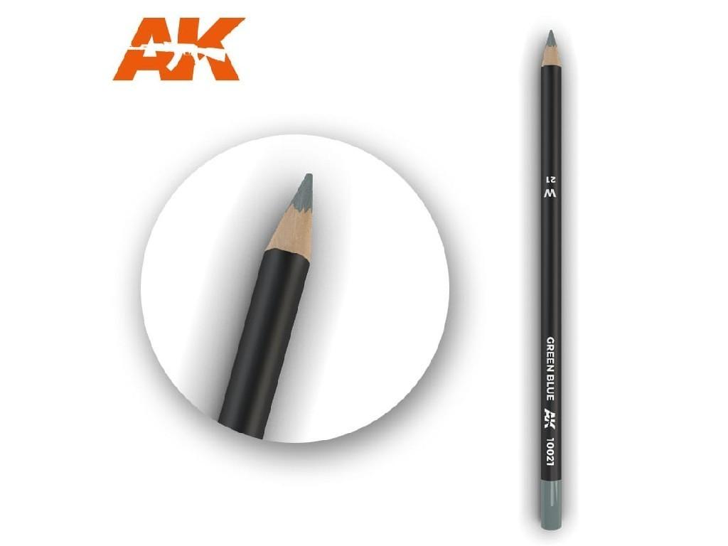 AK Interactive - AK10021 - Akvarelová tužka na odřeniny - Green Blue