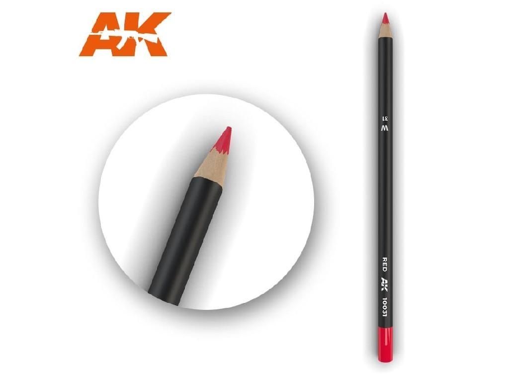 AK Akvarelová tužka na odřeniny - Red