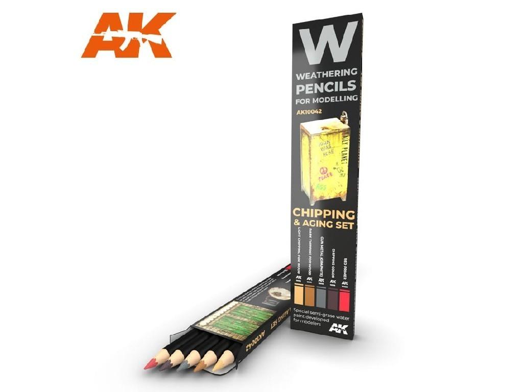 AK Set akvarelových tužek na odřeniny - Chipping