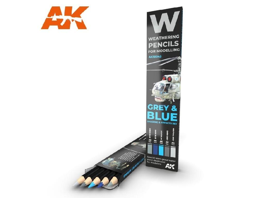 AK Set akvarelových tužek na odřeniny - Grey and Blue
