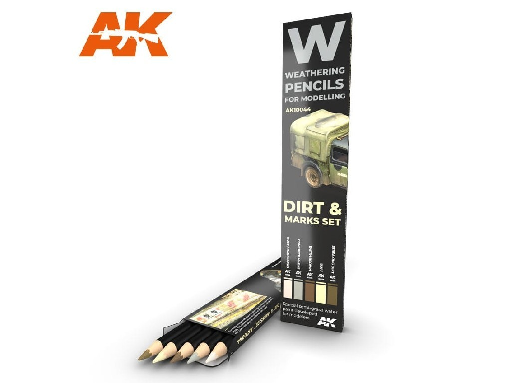 AK Set akvarelových tužek na odřeniny - Splashes, dirt and stains