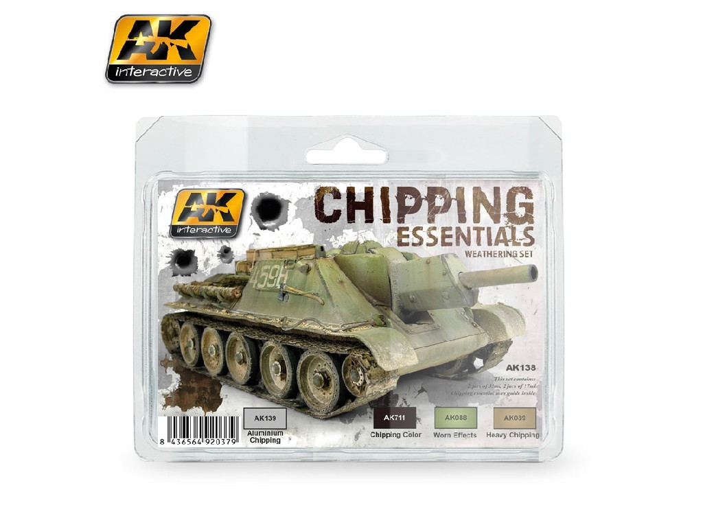 AK Interactive - Chipping Essentials Weathering Set
