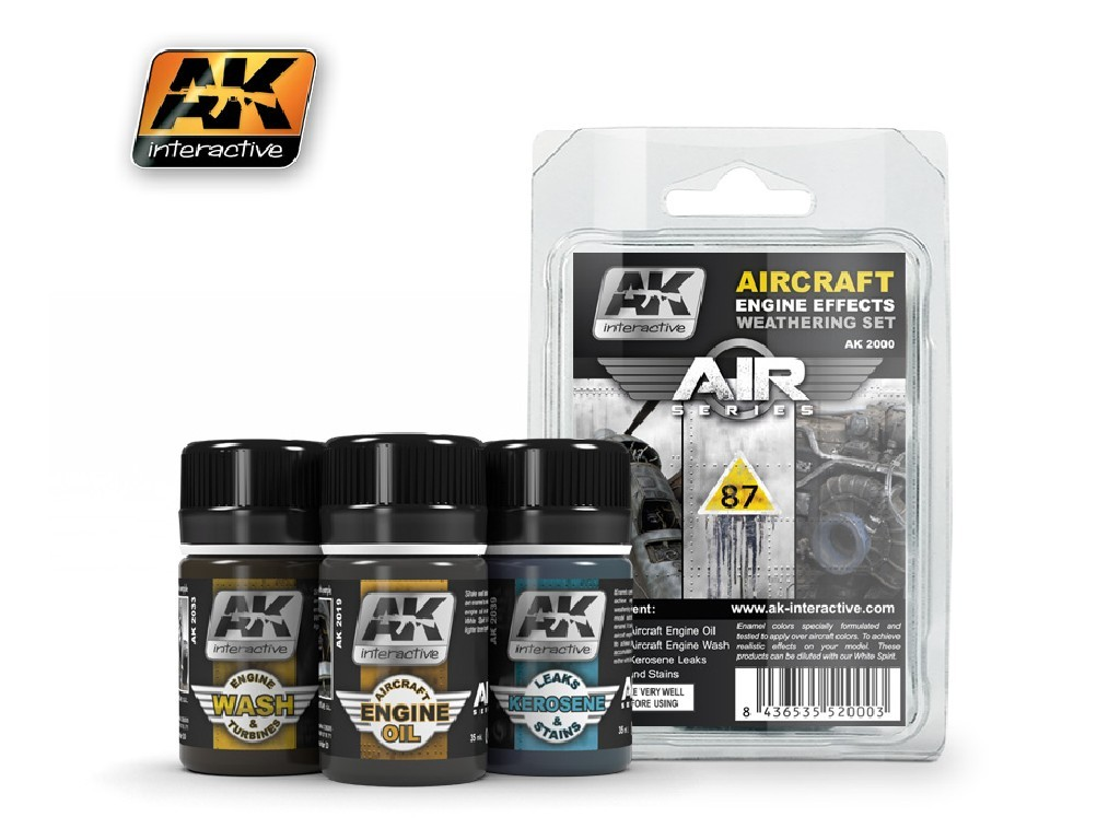 AK Interactive - Aircraft Engine Weathering Set