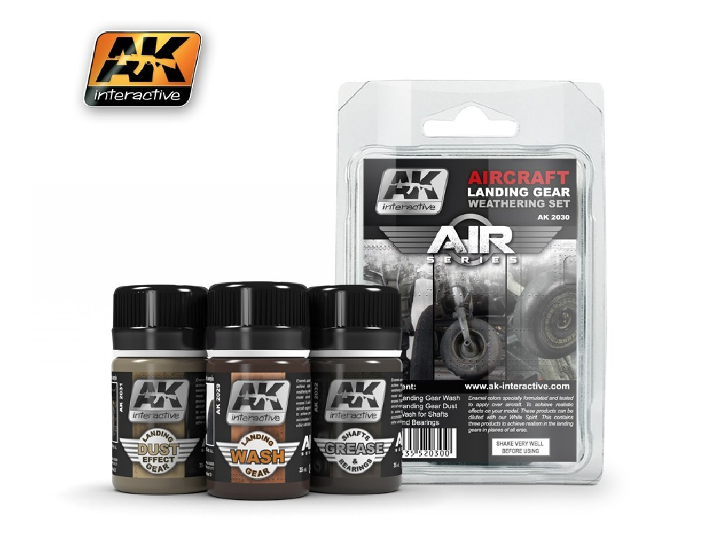 AK Interactive - Aircraft Landing Gear Weathering Set