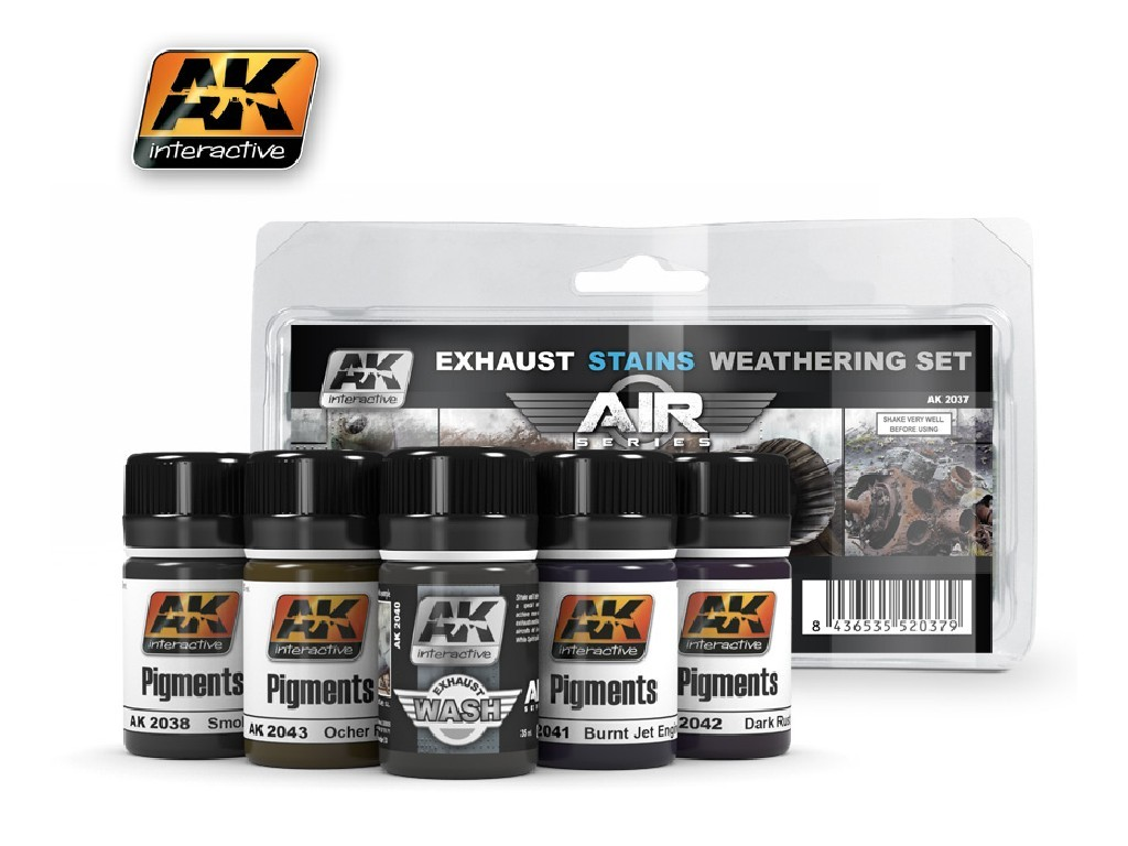 AK Interactive - Exausts and Stains Weathering Set