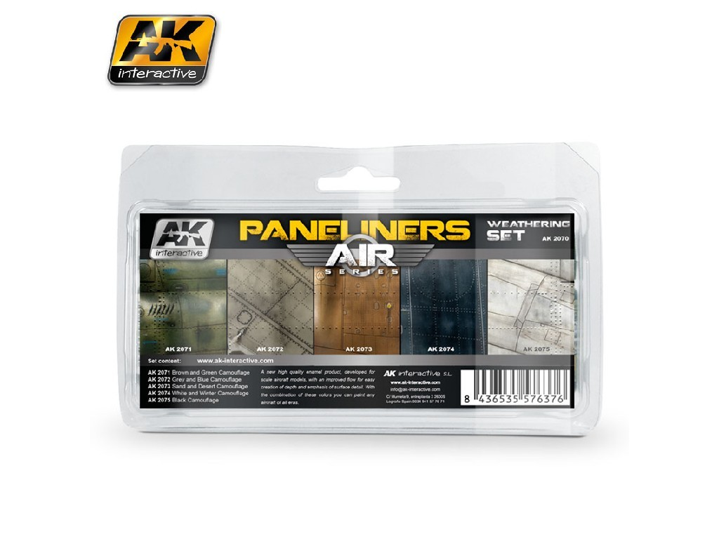 AK Interactive - Paneliners Weathering Set
