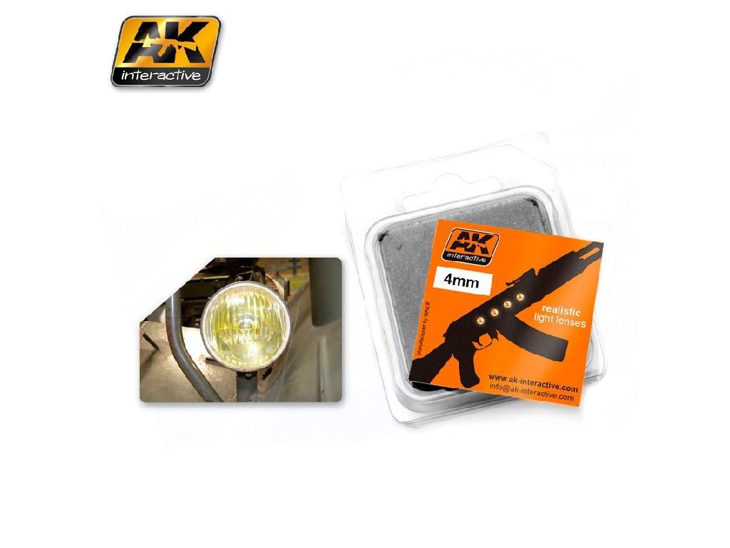 AK světla - Amber 4 mm