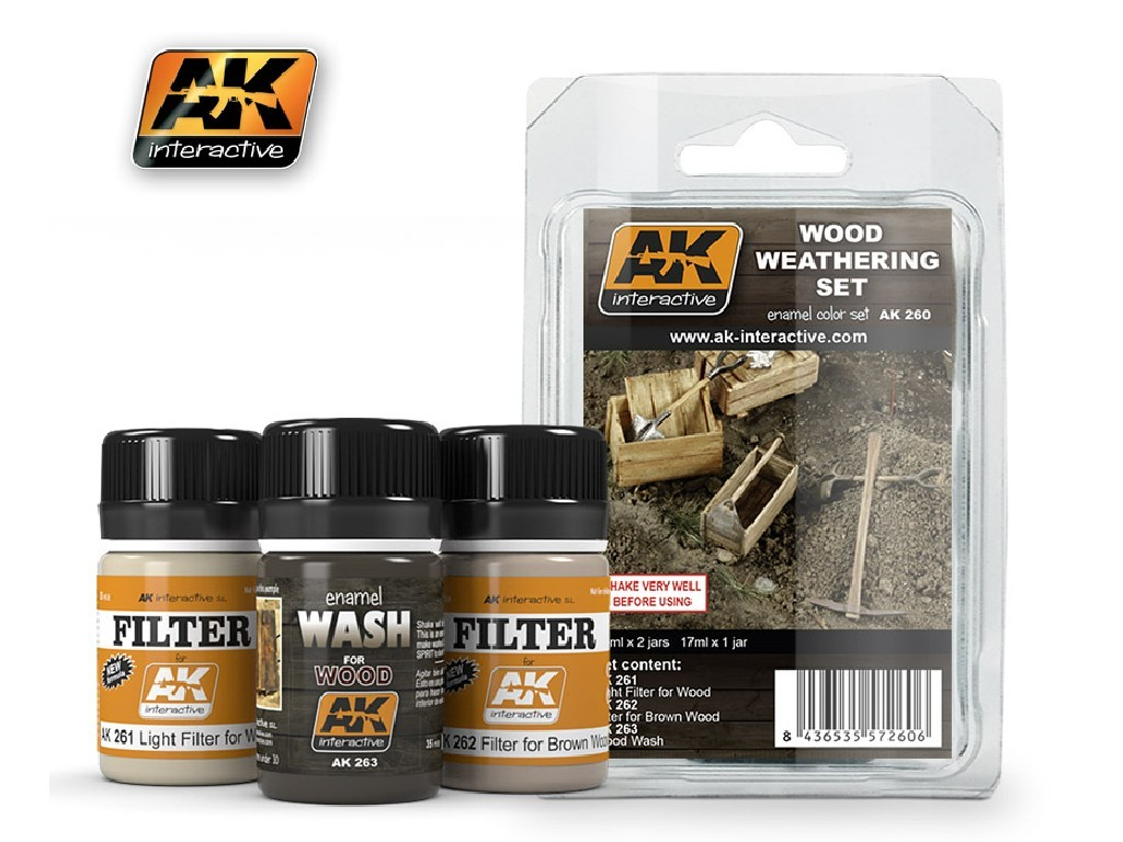 AK Interactive - Wood Weathering Set
