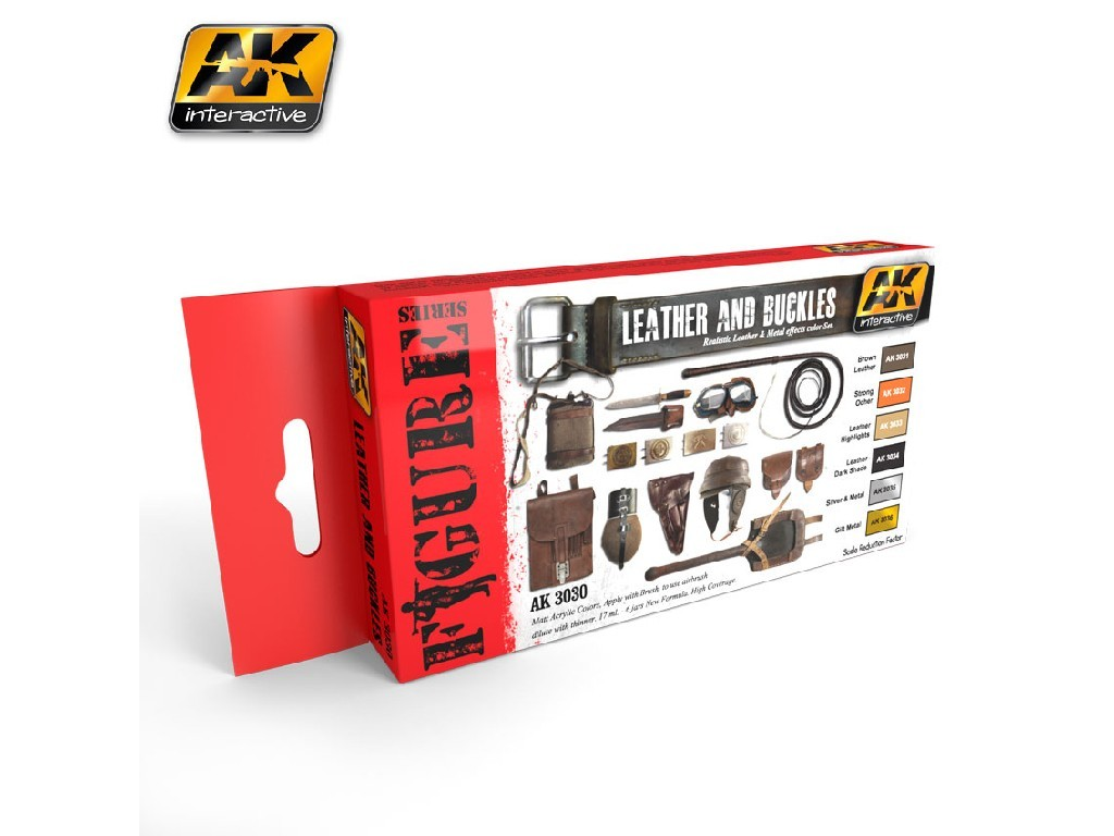 AK Interactive - Leather and Buckles Colors Set