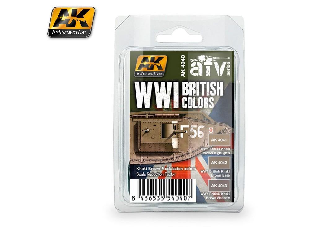 AK Interactive - WWI British Colors (Khaki Brown Modulation Set)