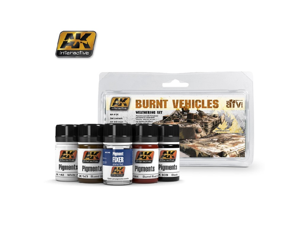 AK Interactive - Burnt Vehicles Set