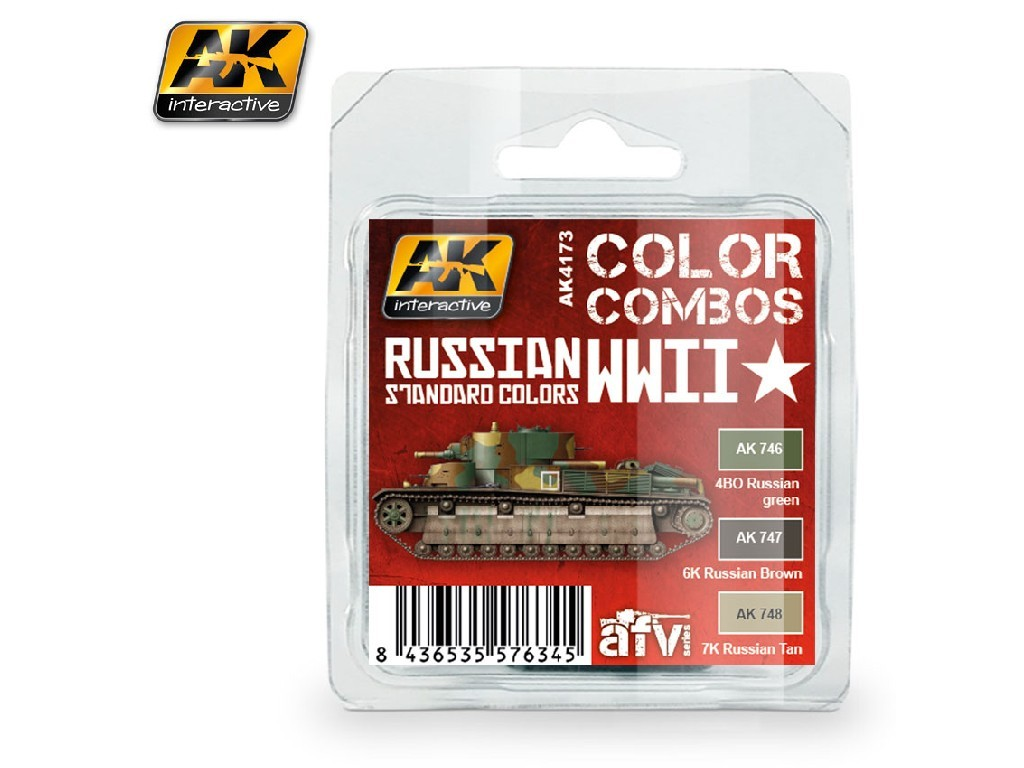 AK Interactive - Russian WWII Standard Colors Combo