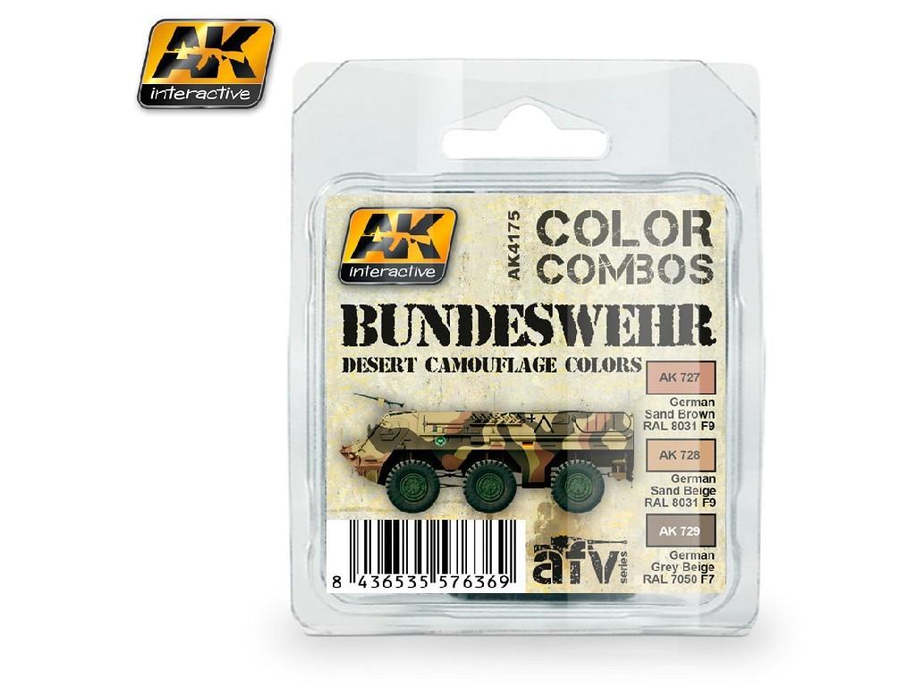 AK Interactive - Bundeswehr Desert Camouflage Colors Combo