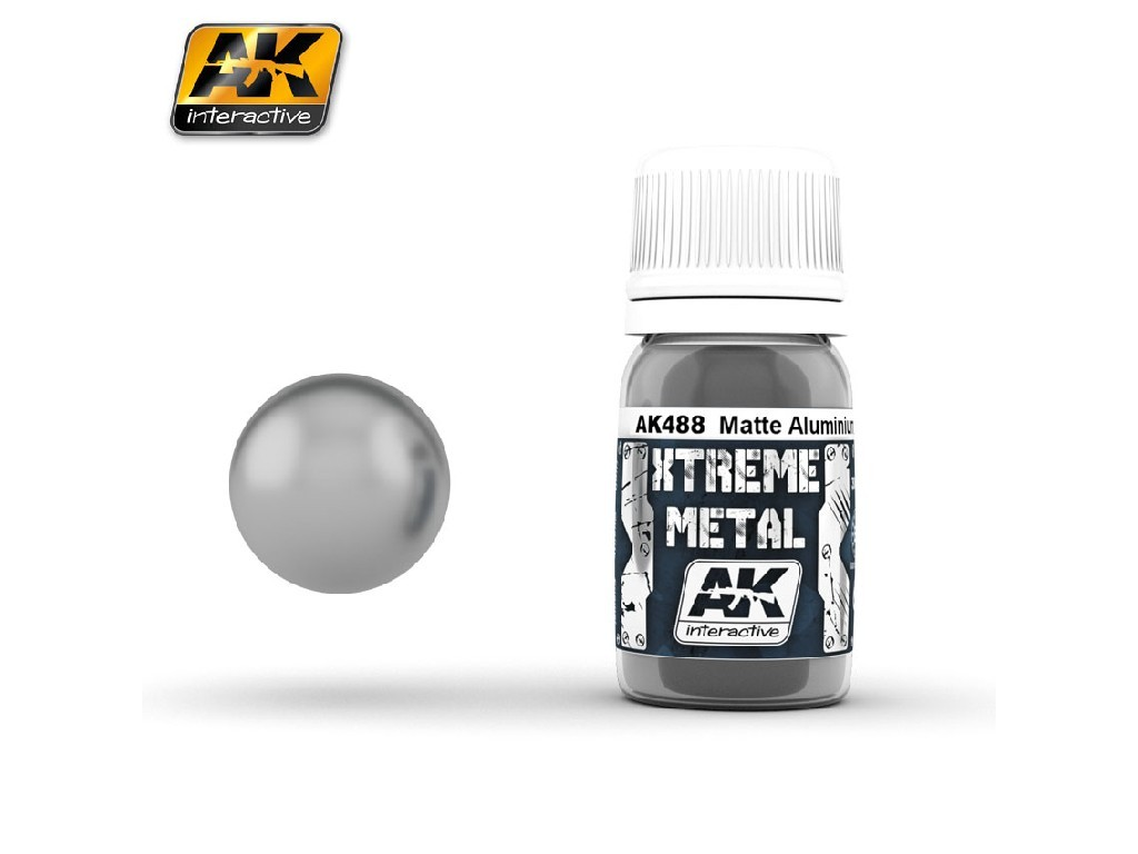 AK Interactive - Xterme Metal Matte Aluminium