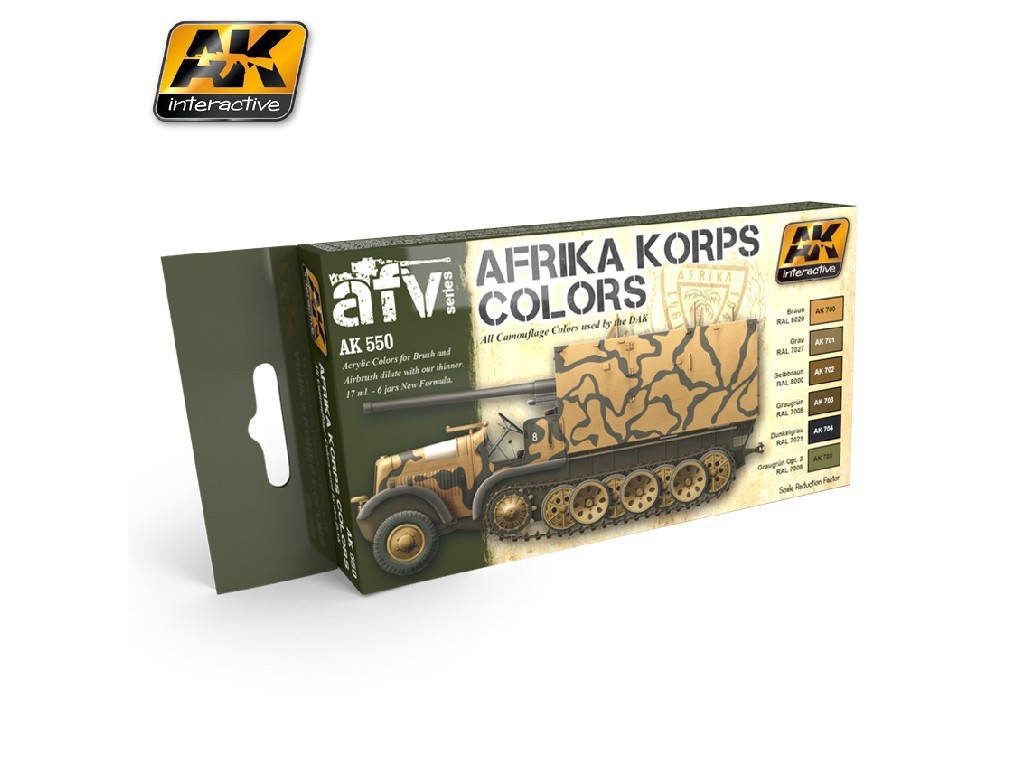 AK Interactive - Afrika Korps Colors Set AK550
