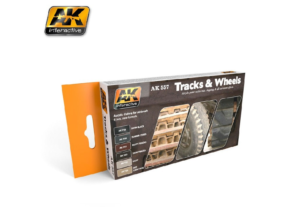 AK Interactive - Track and Wheels Colors Set