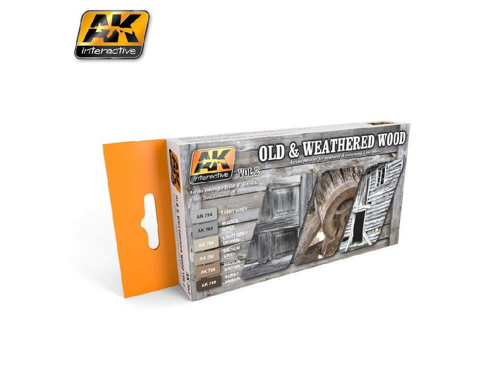 AK Interactive - Old And Weathered Wood Vol.2 Colors Set
