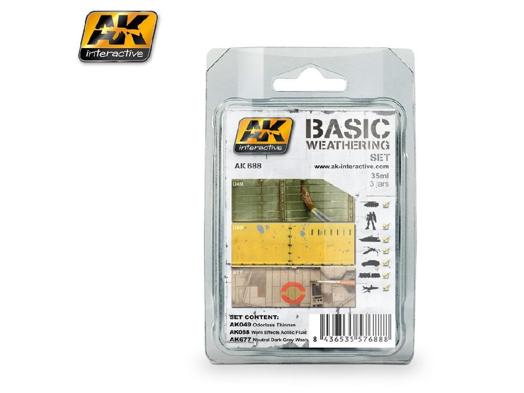 AK Interactive - Basic Weathering Set
