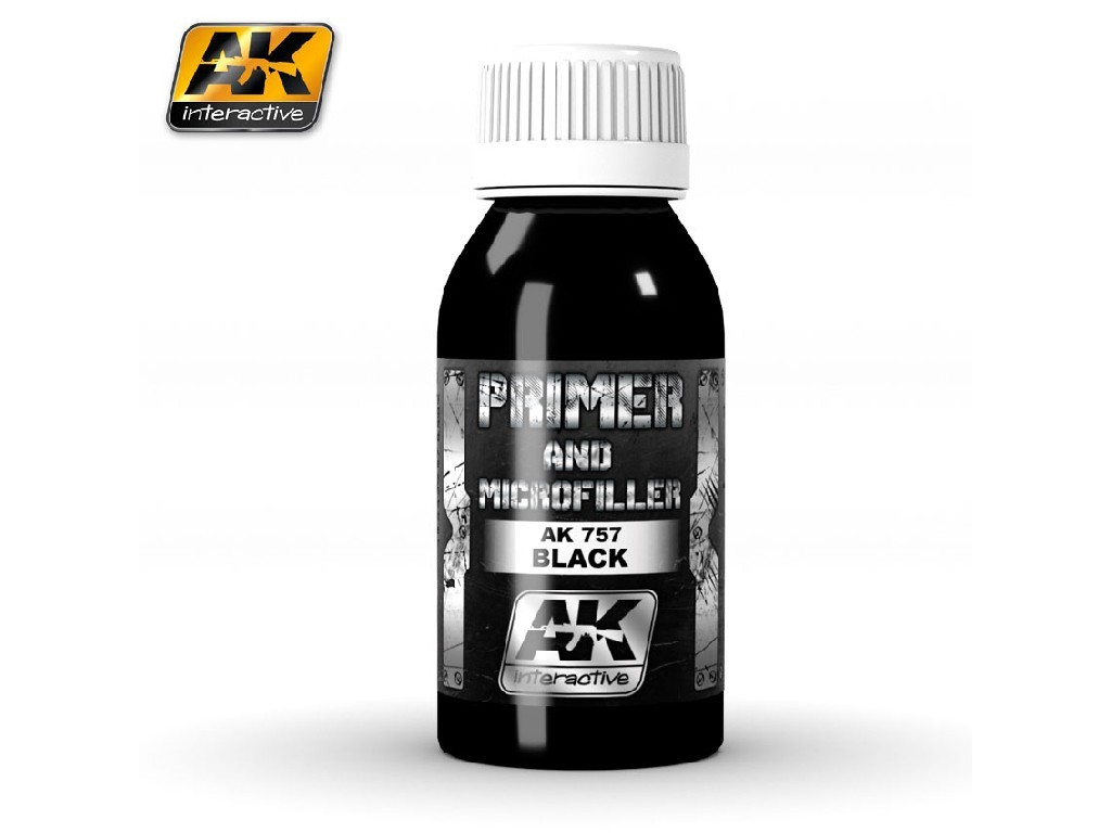 AK Interactive - Black Primer and Microfiller 100ml.