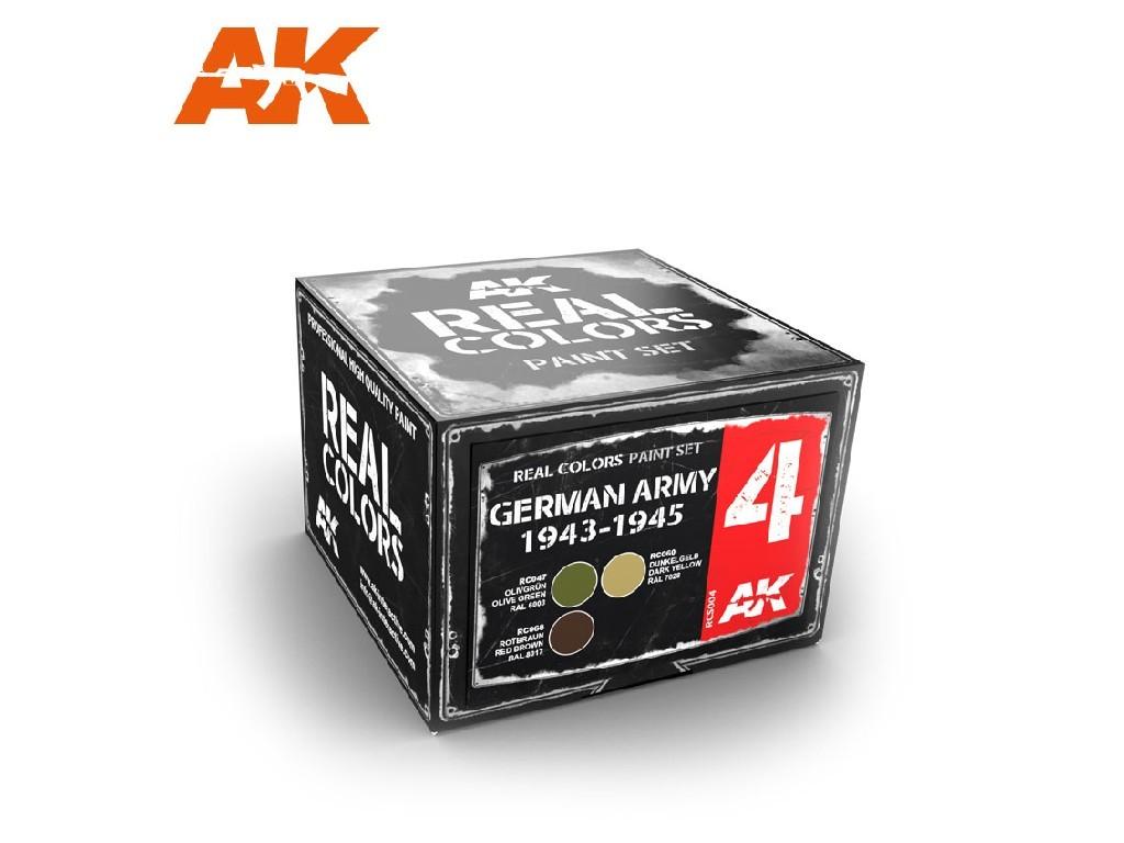 AK Interactive - Real Colors Set - German Army 1943-1945 Set 4x10ml.