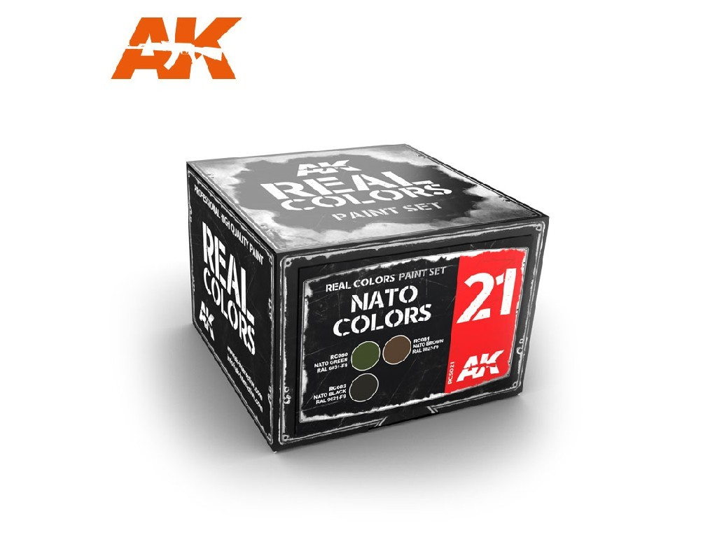 AK Interactive - NATO Colors Set Real Colors