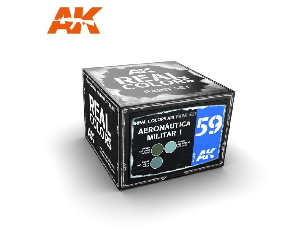 AK Interactive - Real Colors Set - Aeronáutica Militar I 4x10ml.