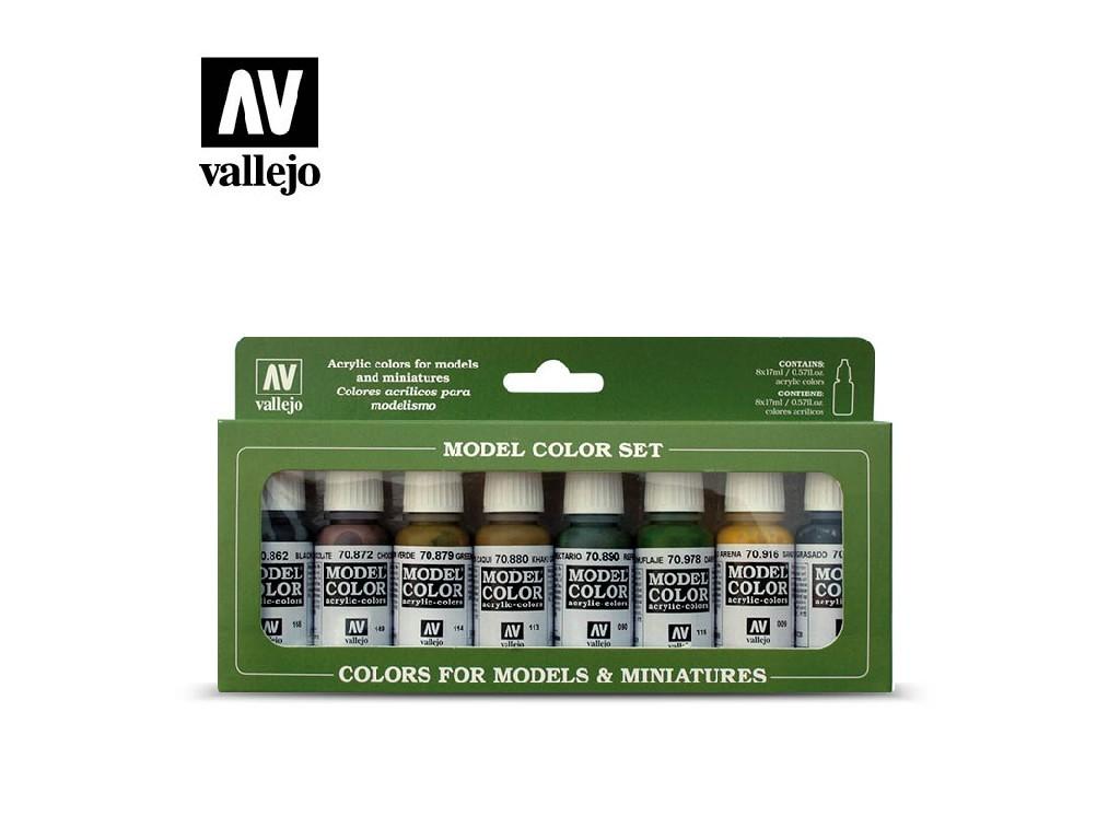 Vallejo - Model Color Set (AF) 70108 Panzer Colors 8x17 ml.