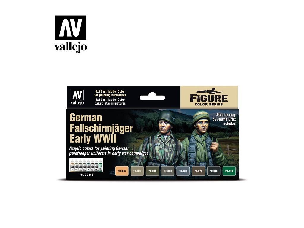 Vallejo - Model Color Set (FI) 70185 German Fallschirmjager Early WWII 8x17 ml.