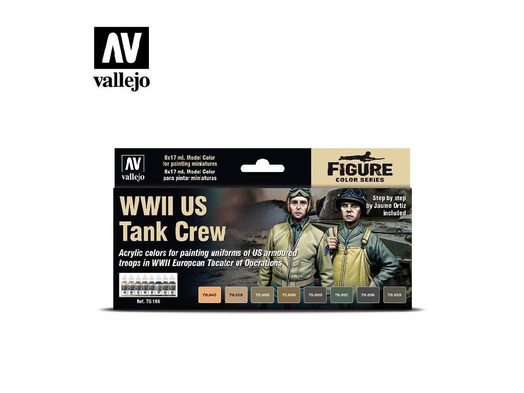 Vallejo - Model Color Set (FI) 70186 WWII US ank Crew 8x17 ml.