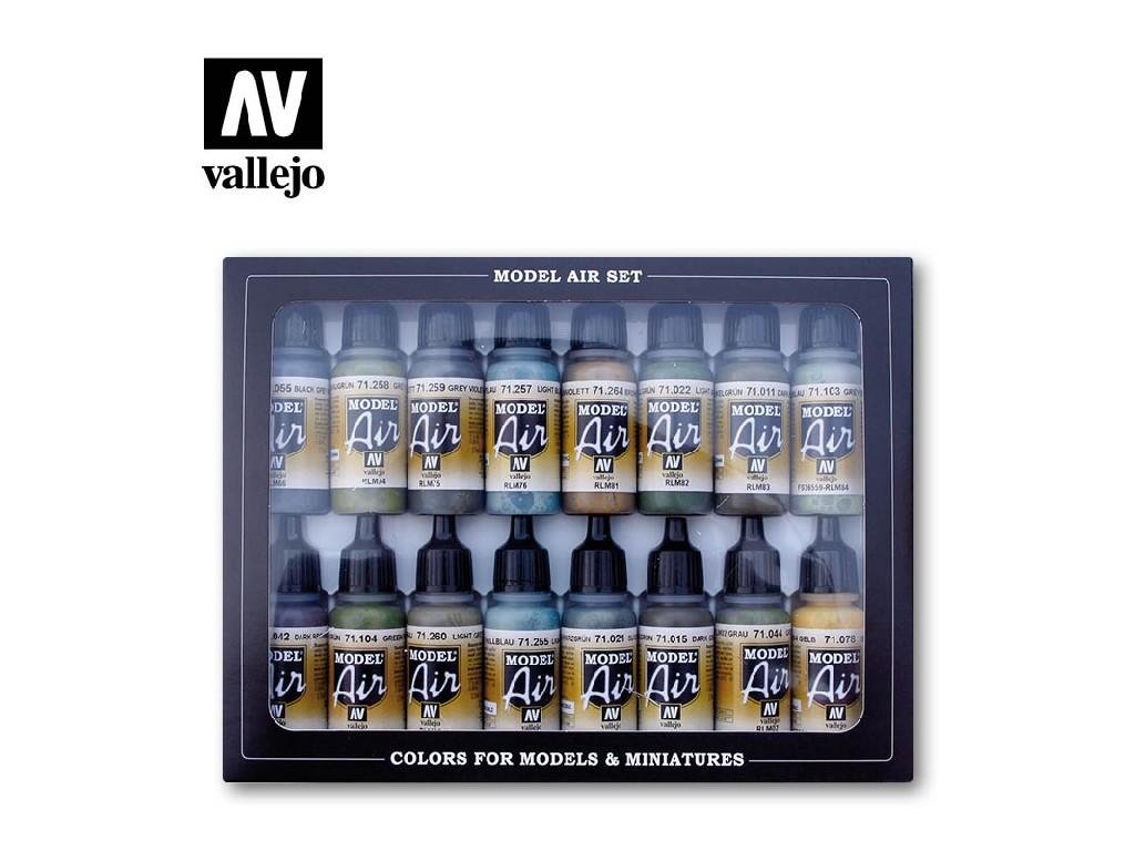 Vallejo - Model Air Set (AW) 71193 RLM Colors 16x17 ml.