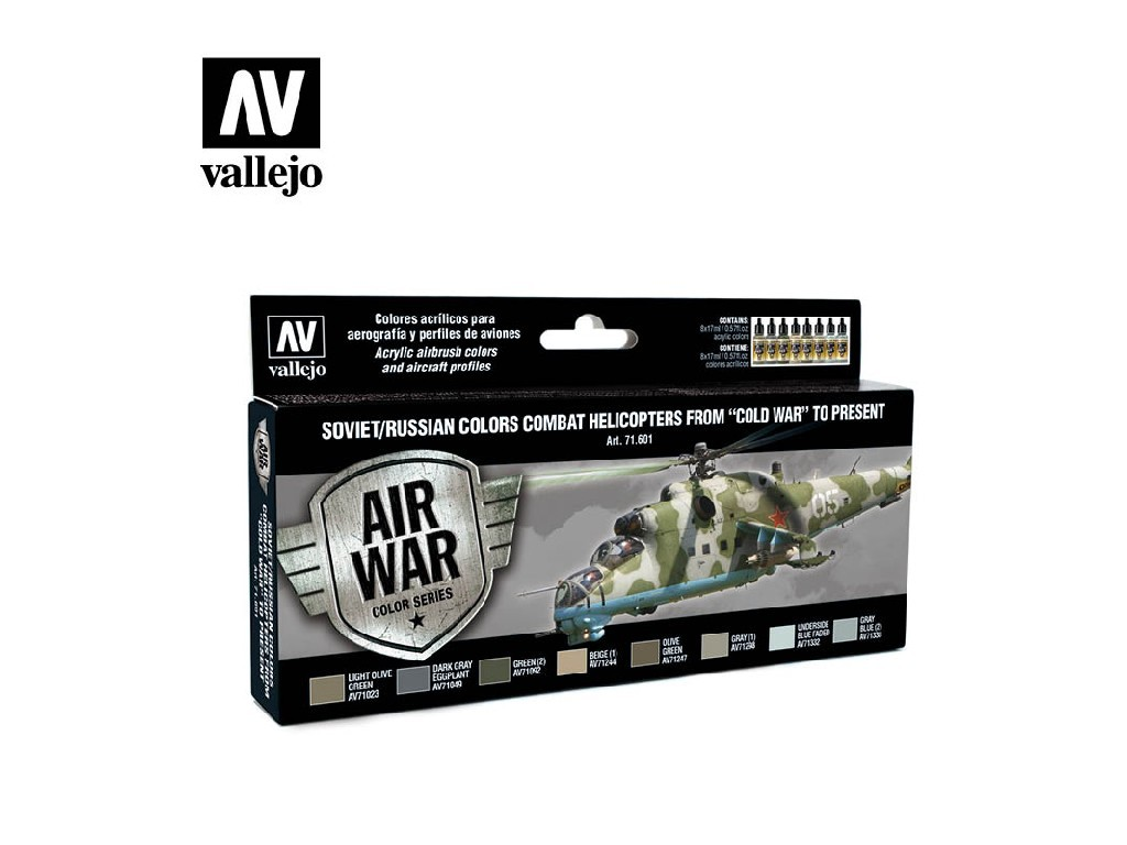 Vallejo Model Air Set - Soviet / Russian colors Combat Helicopters post WWII to present 8x17 ml. 71601