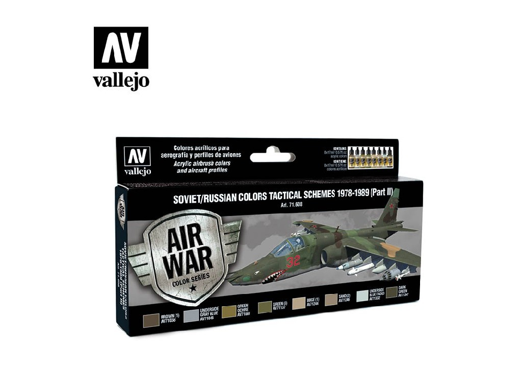Vallejo - Model Air Set (AW) 71608 Soviet / Russian Tactical Schemes 1978-1989 8x17 ml.
