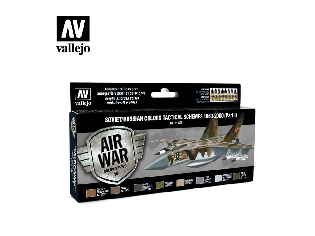 Vallejo Model Air Set - Soviet / Russian colors Tactical Schemes 1960-2000 (Part I) 8x17 ml. 71609