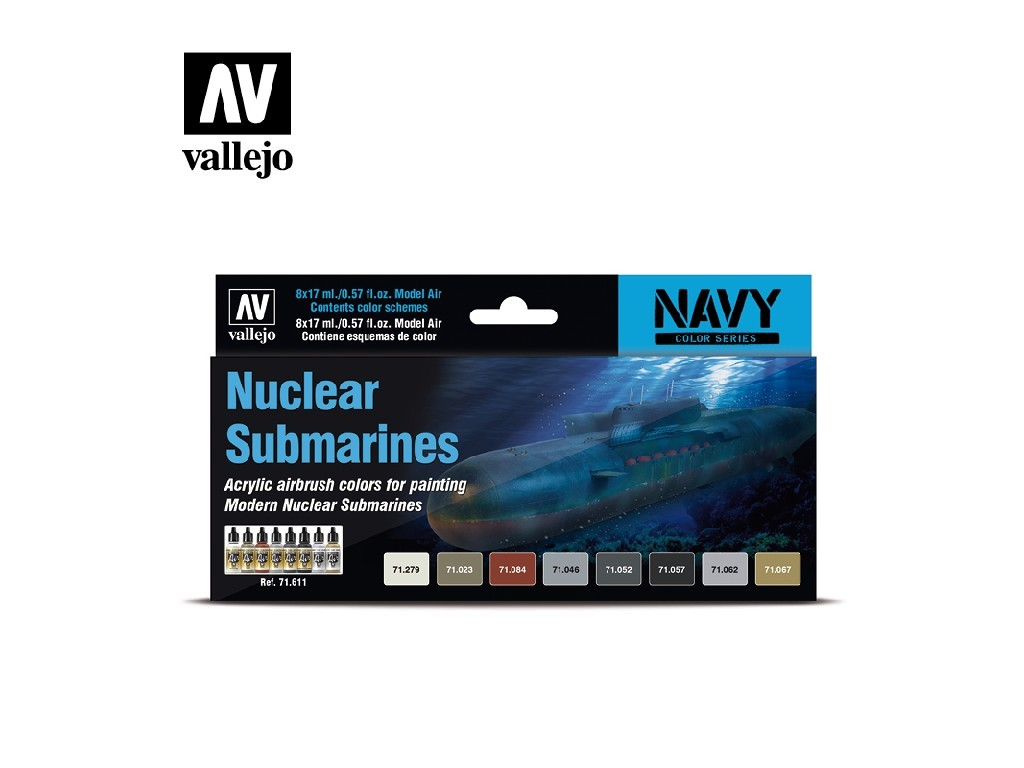 Vallejo Model Air Set - Nuclear Submarines 8x17 ml. 71611