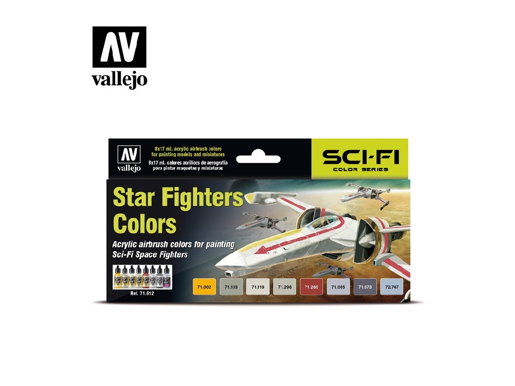 Vallejo Model Air Set - Star Fighters Colors 8x17 ml. 71612