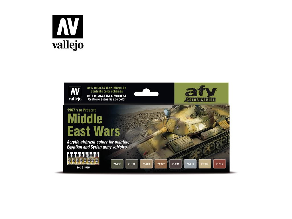Vallejo Model Air Set - 71619 Middle East Wars 1967 to Present 8x17 ml.