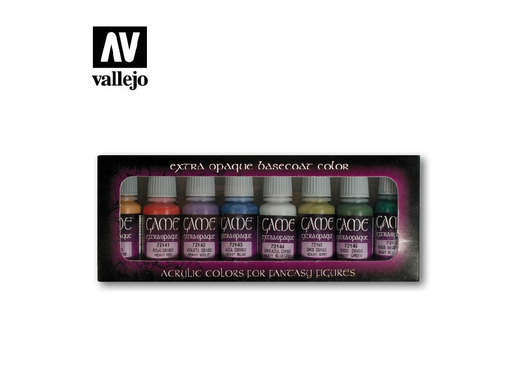 Vallejo Game Color Set - Extra Opaque Colors 8 x 17 ml. 72294
