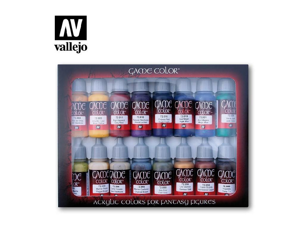 Vallejo Game Color Set - Advanced 16 x 17 ml. 72298