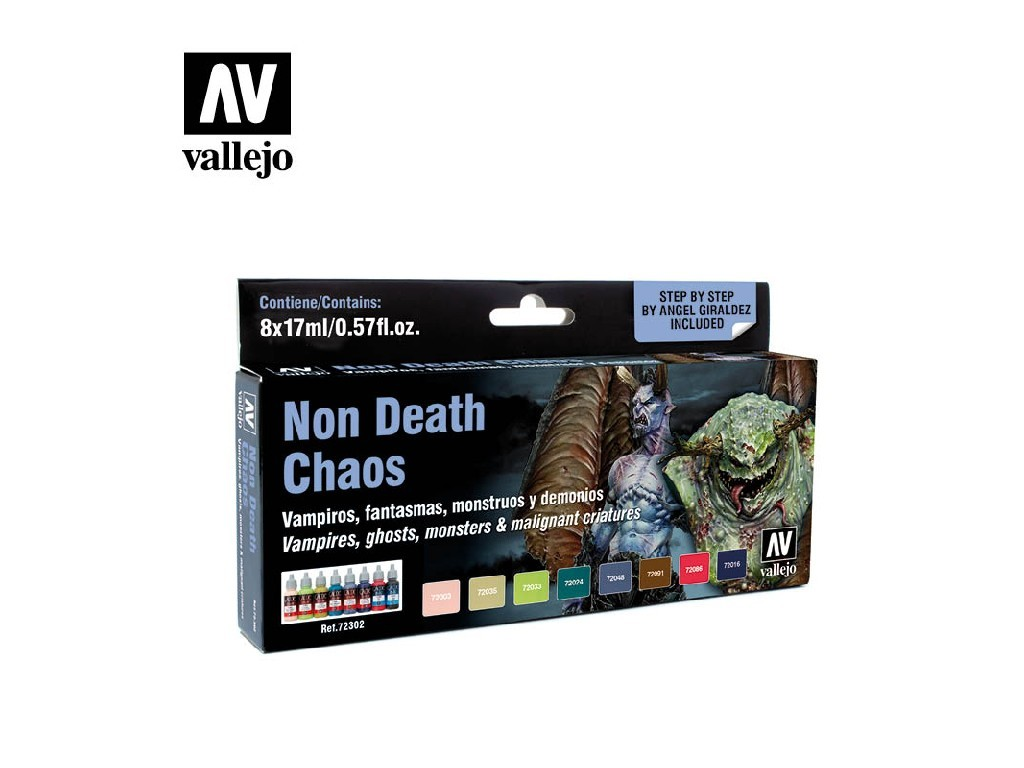 Vallejo Game Color Set - Non Death Chaos by Angel Giraldez 8 x 17 ml. 72302