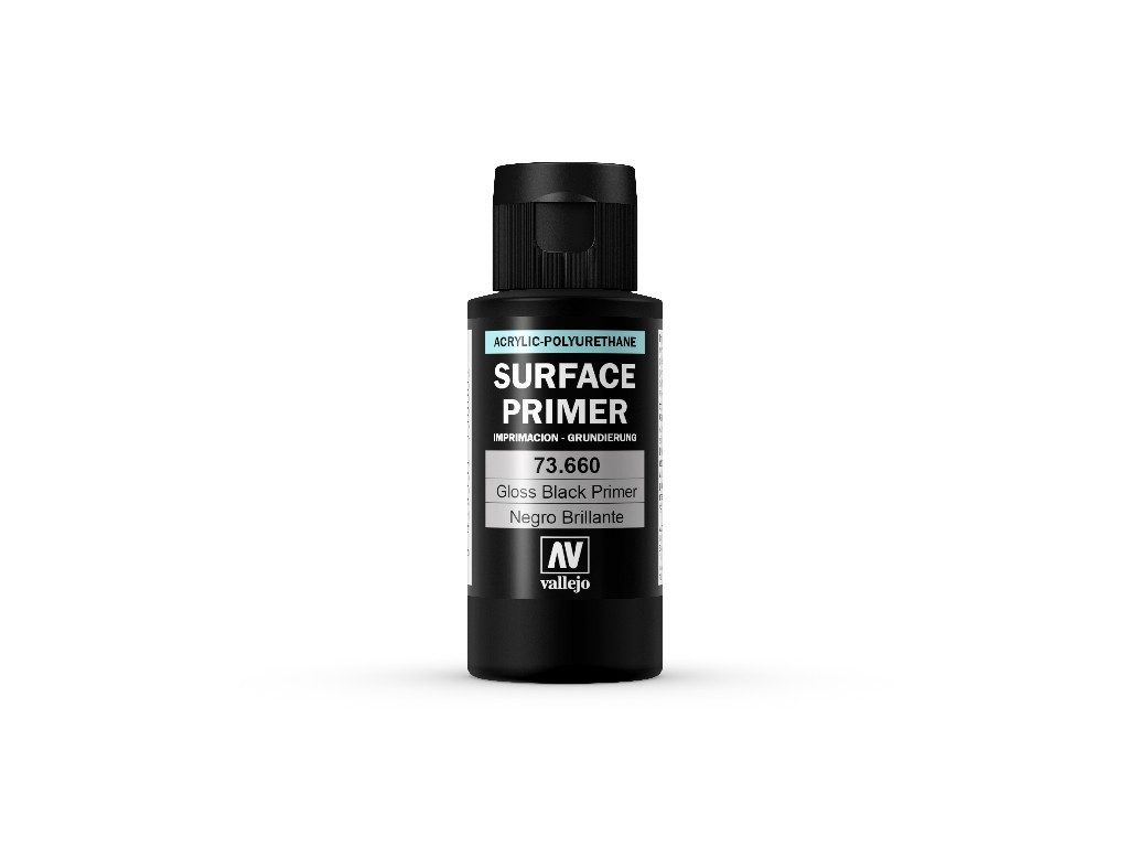 Vallejo Surface Primer - Gloss Black Primer 73660 60 ml.