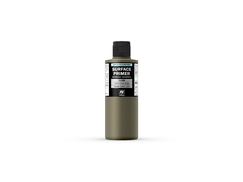 Vallejo Surface Primer - U.S. Olive Drab 74608 200 ml.