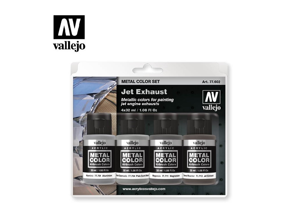 Vallejo - Metal Color Set 77602 Jet Exhaust 4x32ml
