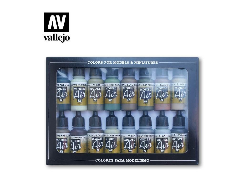 Vallejo - Model Air Set (AF) 71180 Allied WWII 16x17 ml.